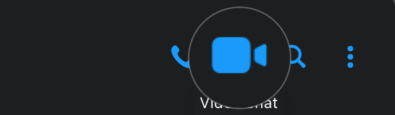 Video Call icon on Messenger on Mac