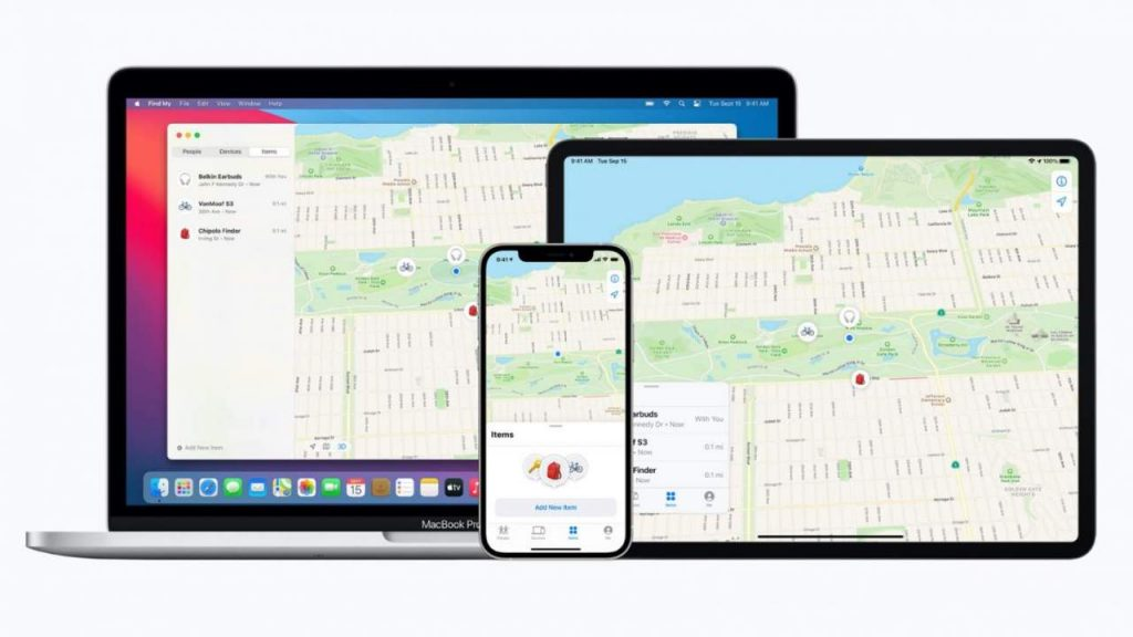 Apple find my network will track third party devices