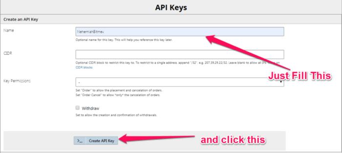 create API 2